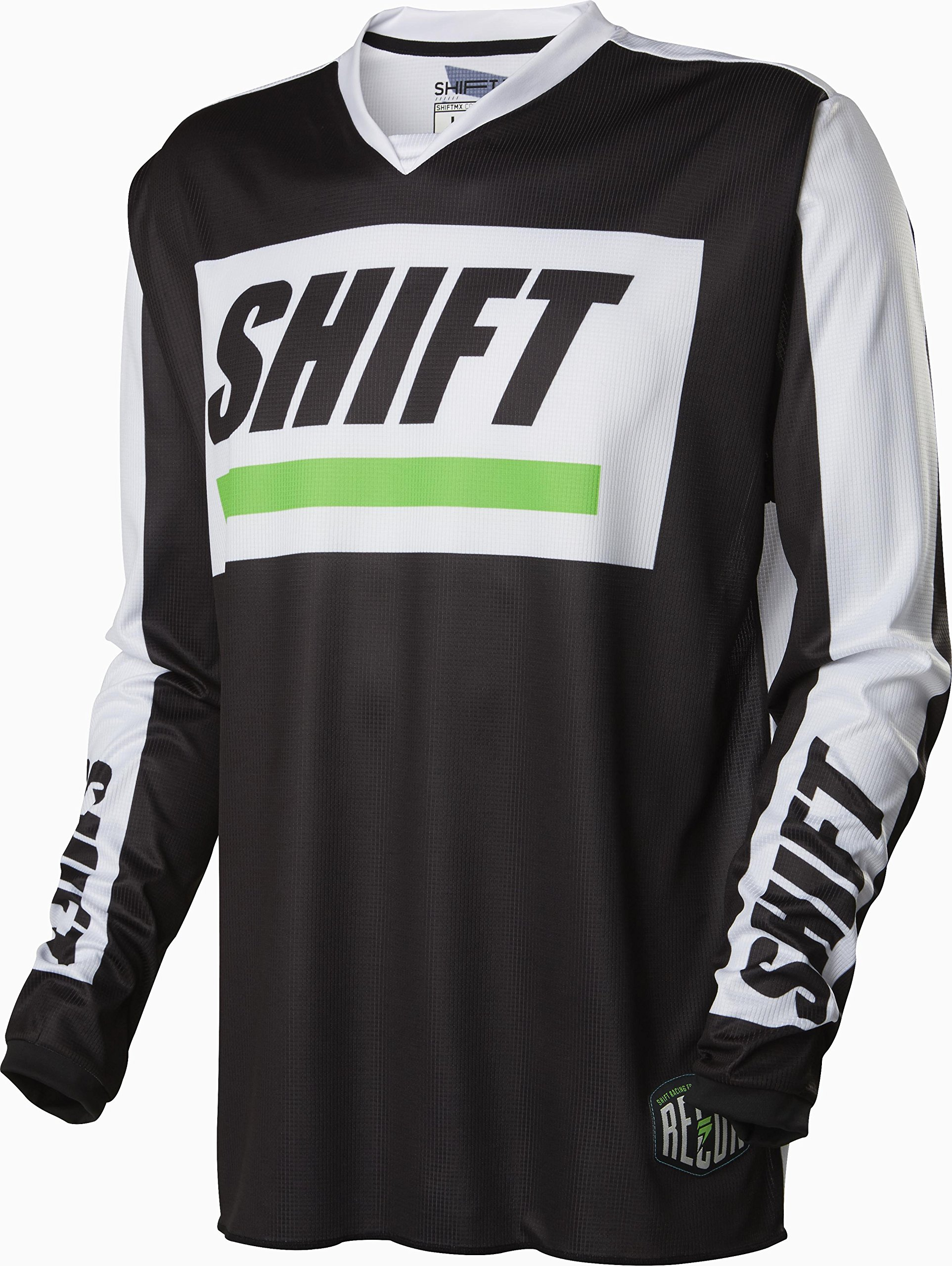 Shift Racing Recon Caliber Men's Off-Road Motorcycle Jerseys - Black/White/Large