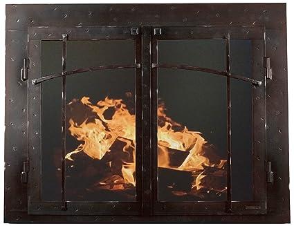 Amazon Ironhaus Csd4 Hbc 4127 Iron Fireplace Glass Door With