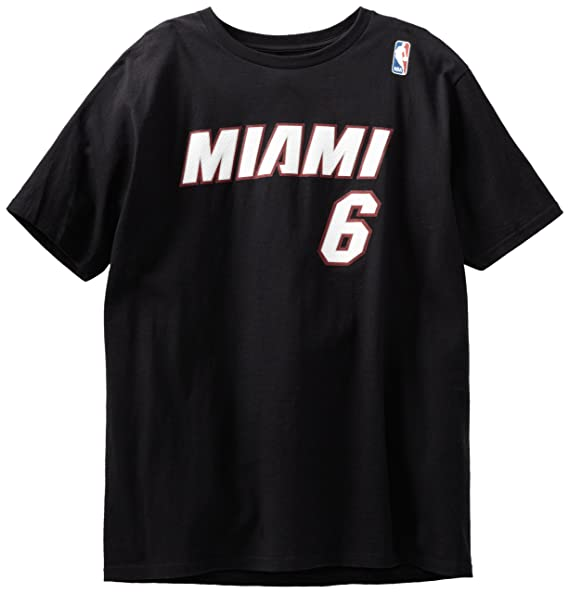 newest f1618 d9526 NBA Miami Heat Black The Go To T-Shirt LeBron James #6