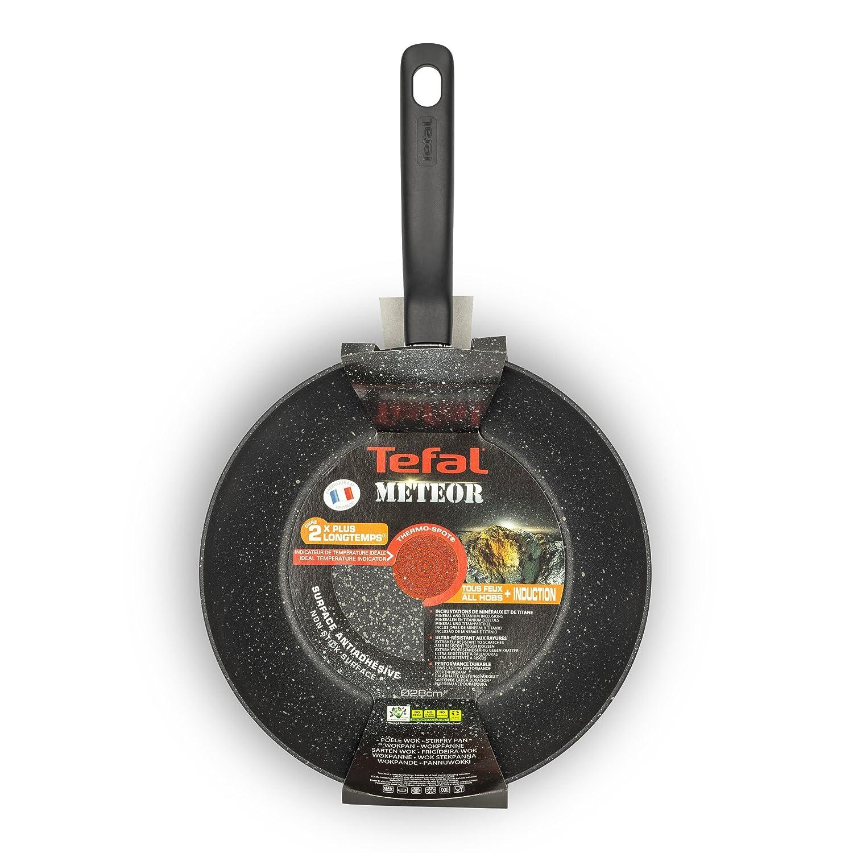 Amazon.com: Tefal Meteor effet pierre-Poêle Wok 28 cm: Kitchen & Dining