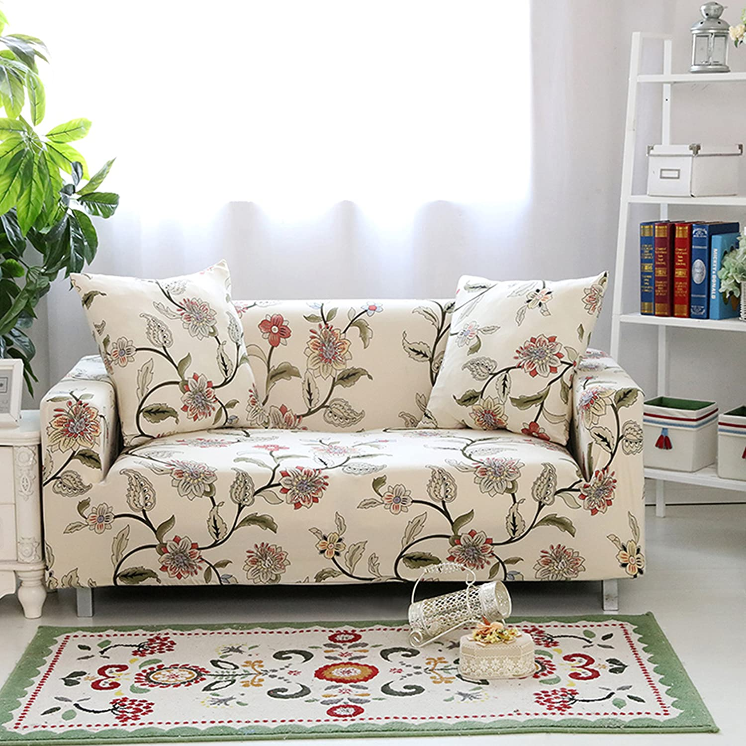 Phenomenal Lamberia Printed Sofa Cover Stretch Couch Cover Sofa Slipcovers For Couches And Loveseats With One Free Pillow Case Blooming Flower Loveseat Evergreenethics Interior Chair Design Evergreenethicsorg