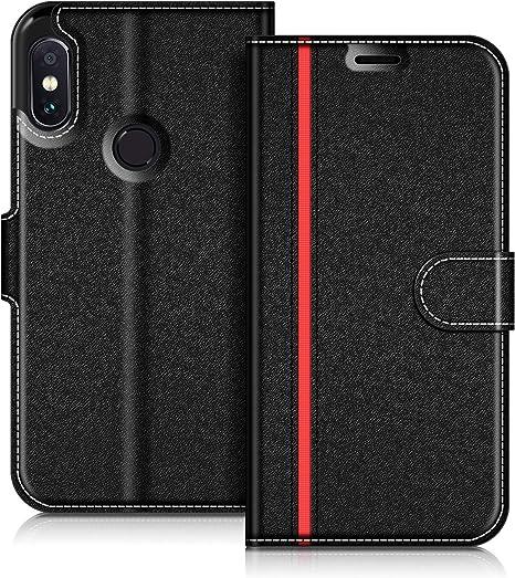 COODIO Funda Xiaomi Redmi Note 5 con Tapa, Funda Movil Xiaomi Redmi Note 5, Funda Libro Xiaomi Note 5 Carcasa Magnético Funda para Xiaomi Redmi Note 5, Azul Oscuro/Rojo: Amazon.es: Electrónica