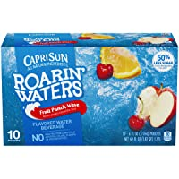 Capri Sun Roarin' Waters Fruit Punch Ready-to-Drink Juice (40 Pouches, 4 Boxes of...