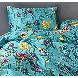 Eikei Vintage Botanical Flower Print Bedding 400tc Cotton Sateen Romantic Floral Scarf Duvet Cover 3pc Set Colorful Antique D