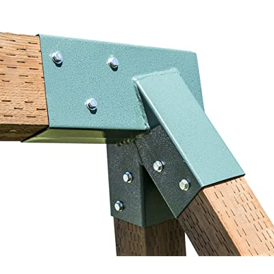 Squirrel Products A-Frame Swing Set Bracket - for 2 (4x4) Legs & 1 (4x6) Beam - Includes Installation Hardware - Contains 1 Bracket: Toys & Games