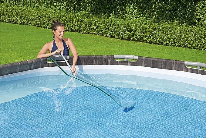 Pool Staubsauger Spas Teiche und Springbrunnen Schwimmbecken Zubeh/ör f/ür Oberirdischen Pool Poolreinigung Bodensauger Reinigungsset Pool Set mit Kescher