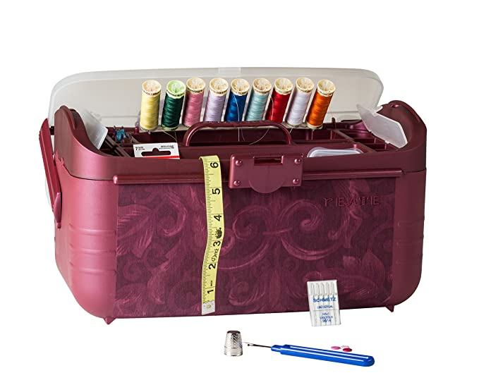 Amazon.com: Adolfo Design. Caja organizadora de costura con ...
