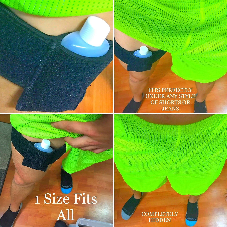 Leg Strap Synthetic Urine Belt Hidden Pocket Holster Leg Belt Neopreme  Speak Easy Style Rave