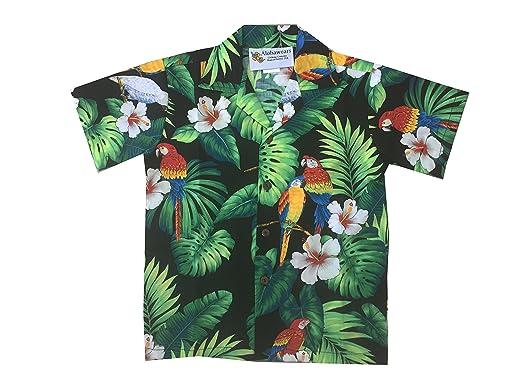d25ae0c4 Amazon.com: Made in Hawaii ! Boy's Tropical Parrot Hawaiian Luau ...