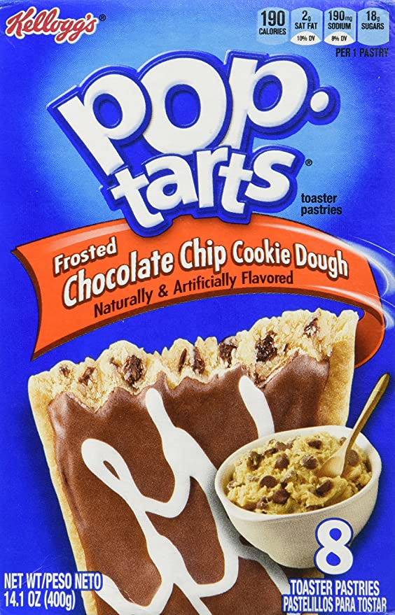 Amazon.com: Pop-Tarts Toaster Pastries, Frosted Chocolate Chip Cookie Dough  8 Count (2 Boxes): Toaster Pastries