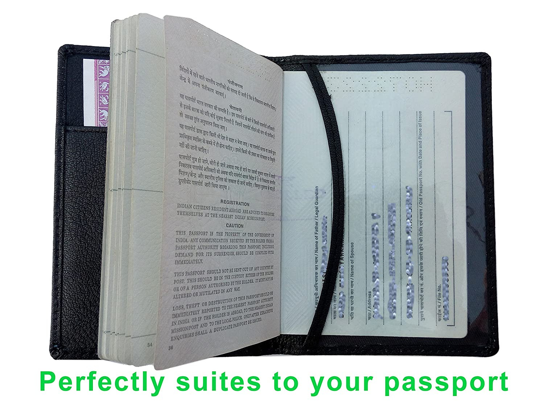 illios Black Passport Wallet