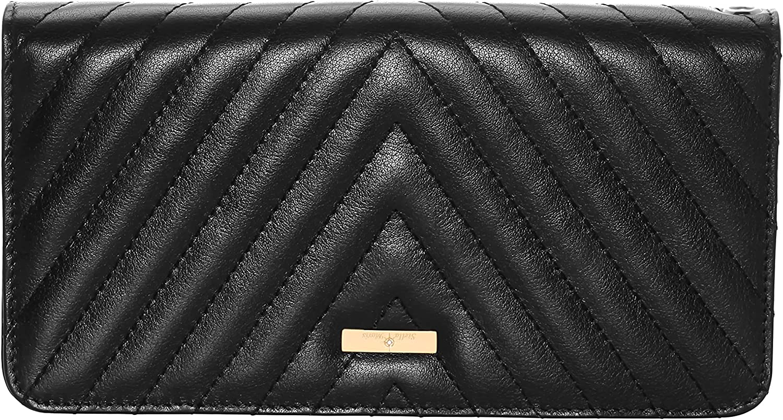 Stella Maris Woman STMW3-02 Diamond Clutch Wallet made of padded black leather L 20,5 x H 11 x W 2,5