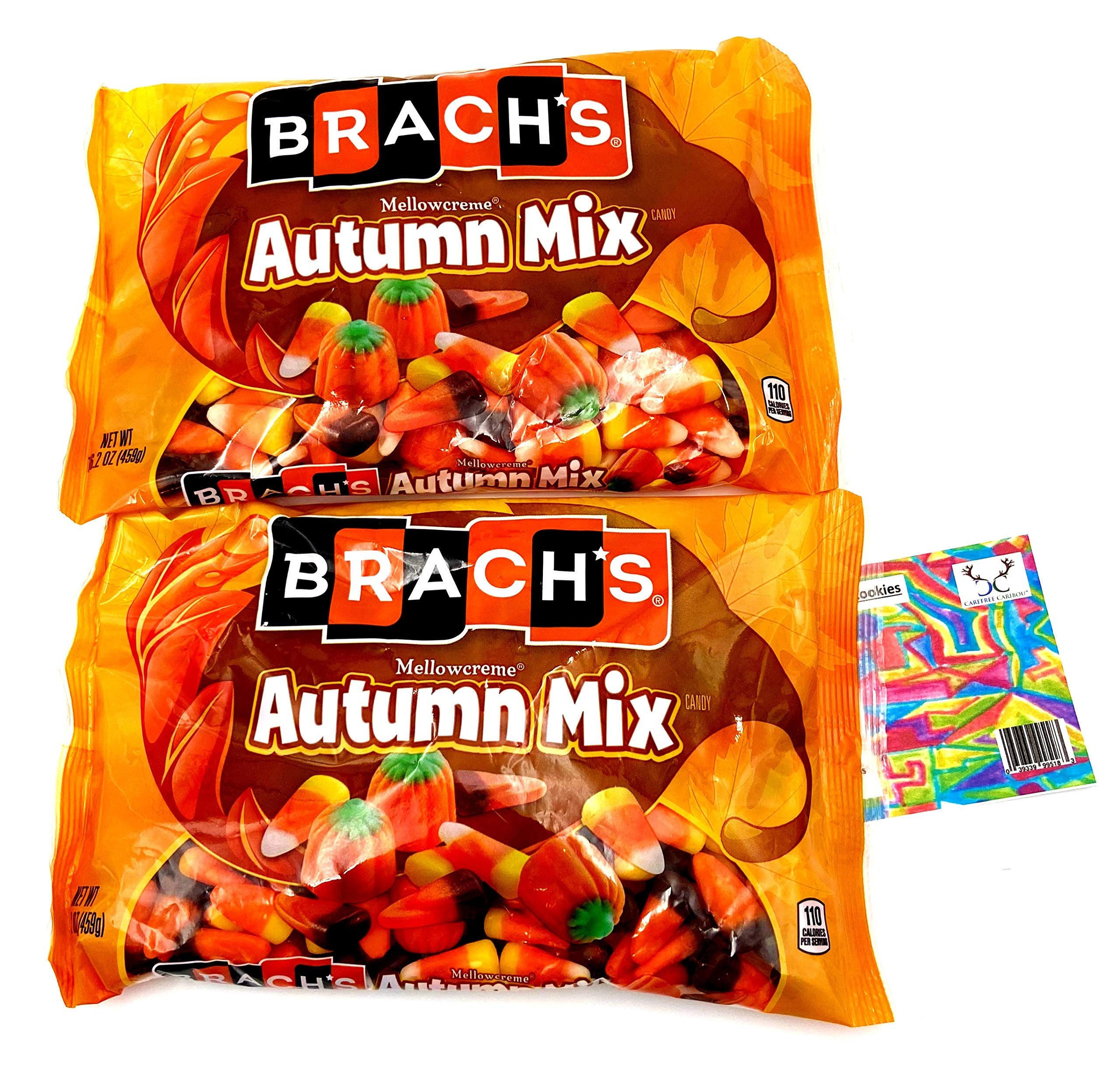 Brach's Autumn Mix Candy Corn Bundle. Two (2) 16.2oz Packages of Brach's Mellowcreme Autumn Mix Candy & Recipe Card from Carefree Caribou. Over Two Pounds of delish Brach's Holiday Candy!