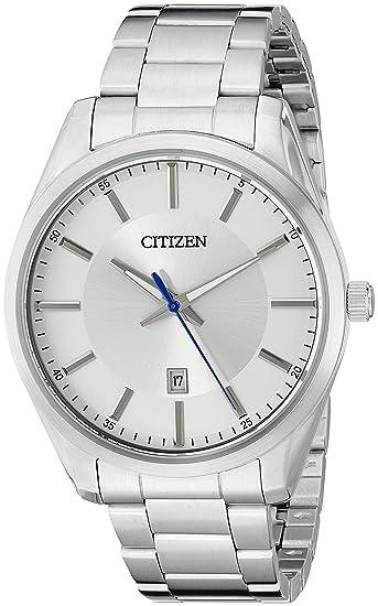 db7a689a46c Citizen BI1030-53A - Reloj de cuarzo para hombre (acero inoxidable, con  fecha