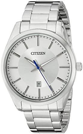 922e4ab7b Amazon.com: Citizen Men's Quartz Stainless Steel Watch with Date ...