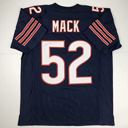 08cbfbfcb46 Amazon.com: Unsigned Khalil Mack Chicago Blue Custom Stitched Football  Jersey Size Men's XL New No Brands/Logos: Sports Collectibles