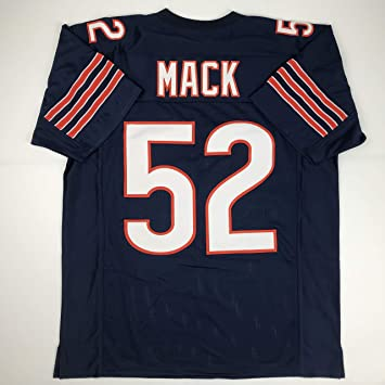 more photos ac3f4 acab0 Unsigned Khalil Mack Chicago Blue Custom Stitched Football Jersey Size  Men's XL New No Brands/Logos
