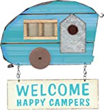 Young's Wood Welcome Happy Campers Hanging Plaque, 12.25-Inch