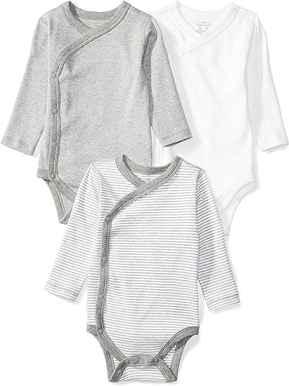 Amazon Com Moon And Back Baby Set Of 3 Organic Long Sleeve Side