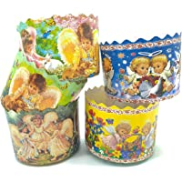12 oz Easter Bread Baking Paper Forms Round Non Stick Kulich Paska Mold - Panettone Paper Mold W 4.33 x H 3.35-In - Mix…