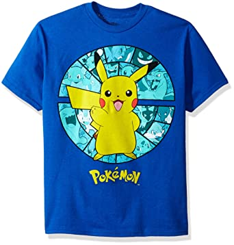0729f055b Amazon.com: Pokemon Boys' Pokemon Short Sleeve T-shirt: Clothing