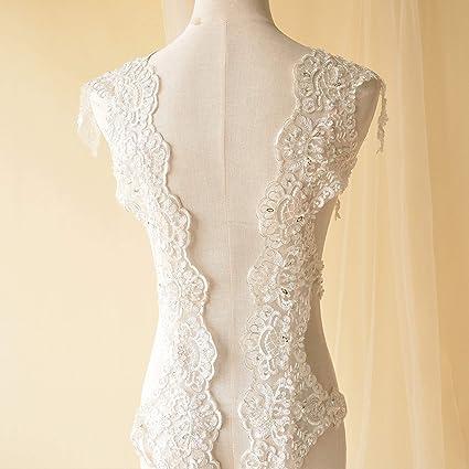 White tule Lace//Ribbon//Trim Applique 1pcs Wedding//party Dress decoration crafts