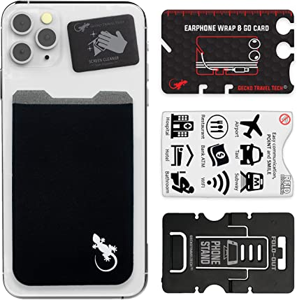 Amazon.com: Billetera adhesiva para teléfono Gecko y ...