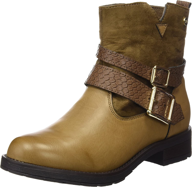 XTI Botin Sra. C. Combinado Taupe, Zapatos de tacón con Punta Cerrada para Mujer