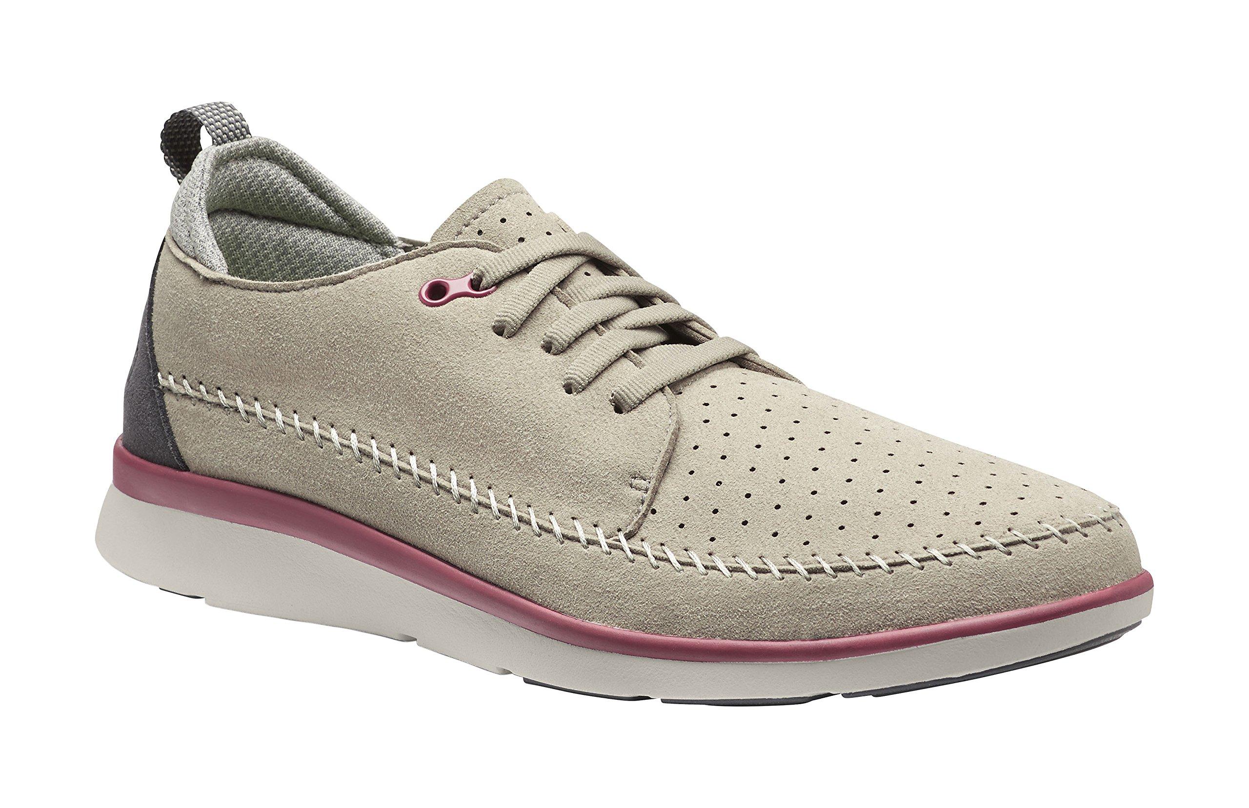 Superfeet Crane Men's Crafted Sport Shoe, Cobblestone/Moonbeam, Microfiber, Men's 9.5 US