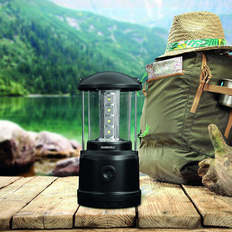 schwarzes Kunststoff-Finish LED-Licht Duracell Taschenlampe Explorer Lantern Serie Laternen-Taschenlampe 90 Lumen Duracell Batterien enthalten