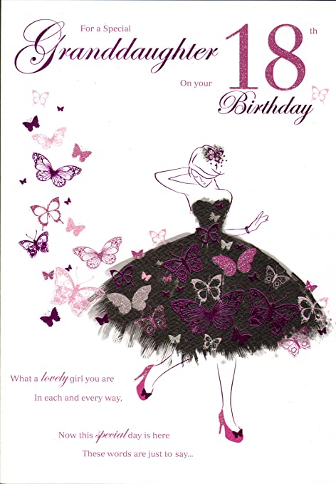 Grandaughter 18th Birthday Card Amazoncouk Kitchen Home
