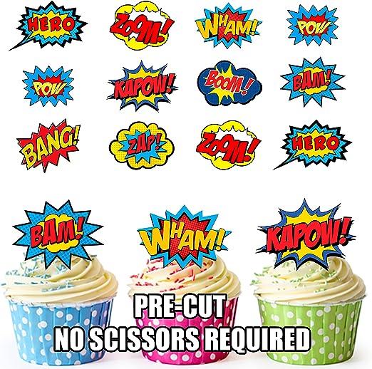 Fiesta PACK - 36 x Super héroe de la historieta de superhéroes de ...