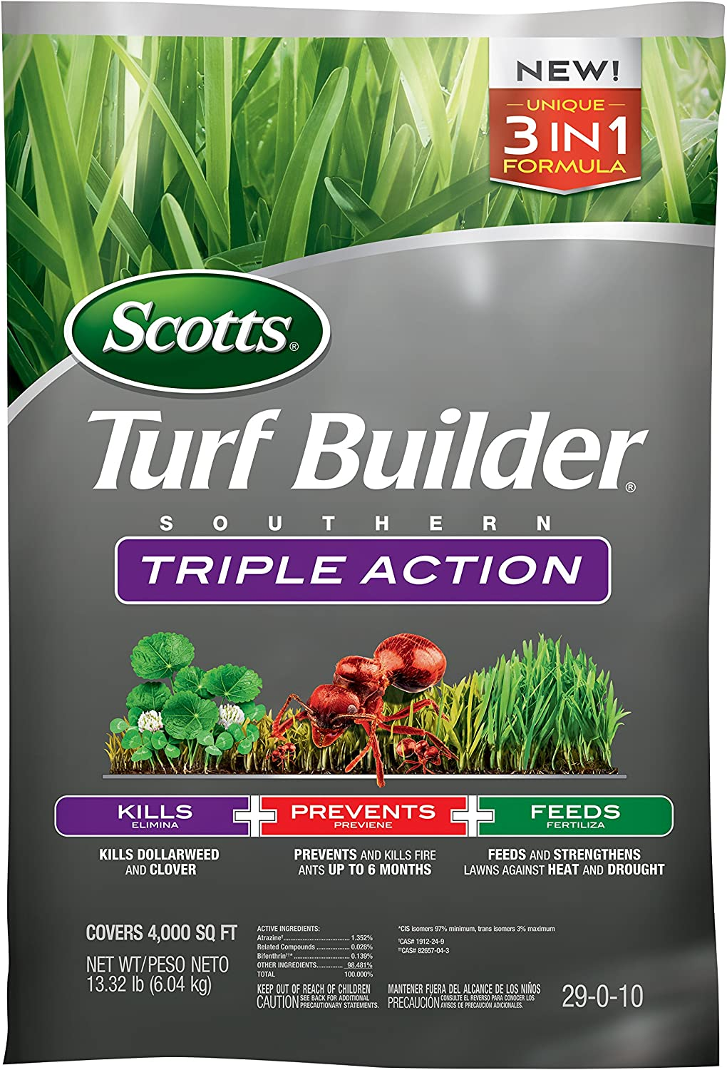 3. Scotts Turf Builder Southern Triple Action