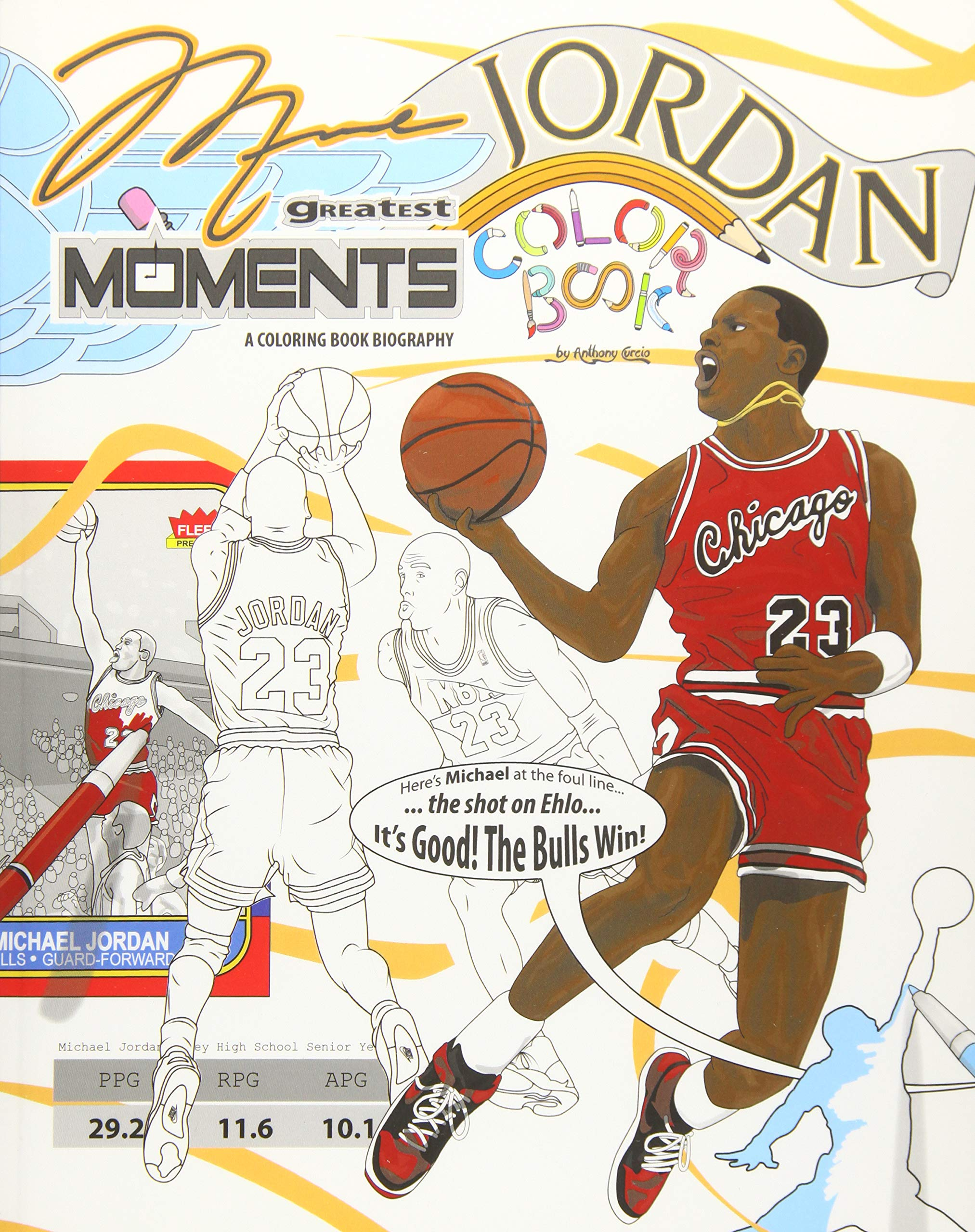 c8fb6600590d Michael Jordan s Greatest Moments  An Inspirational Coloring Book ...