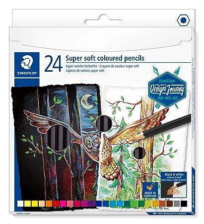 Amazon.com: STAEDTLER ST - Estuche de cartón con 24 colores ...