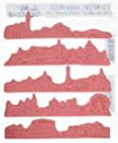 "Stampers Anonymous Tim Holtz Cling Rubber Cityscapes Stamp Set, 7"" x 8.5"""