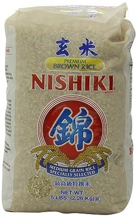 Nishiki Arroz integral de calidad, 5 libras.: Amazon.com ...