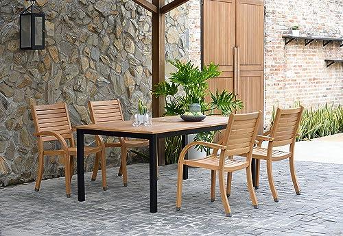 Amazonia Spiaggia 5 Piece Extendable Patio Dining Set
