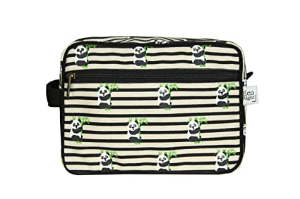 Toiletry bag with panda pattern