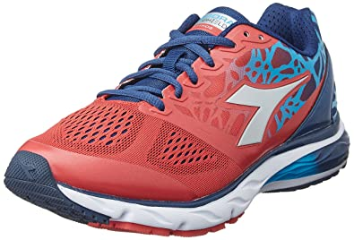cfea23ac639 Diadora Men s Mythos Blushield Red Blue Dark Denim Athletic Shoe
