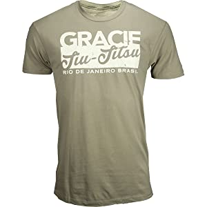 Gracie Jiu-Jitsu Tower Shirt - Military Green - X-Large