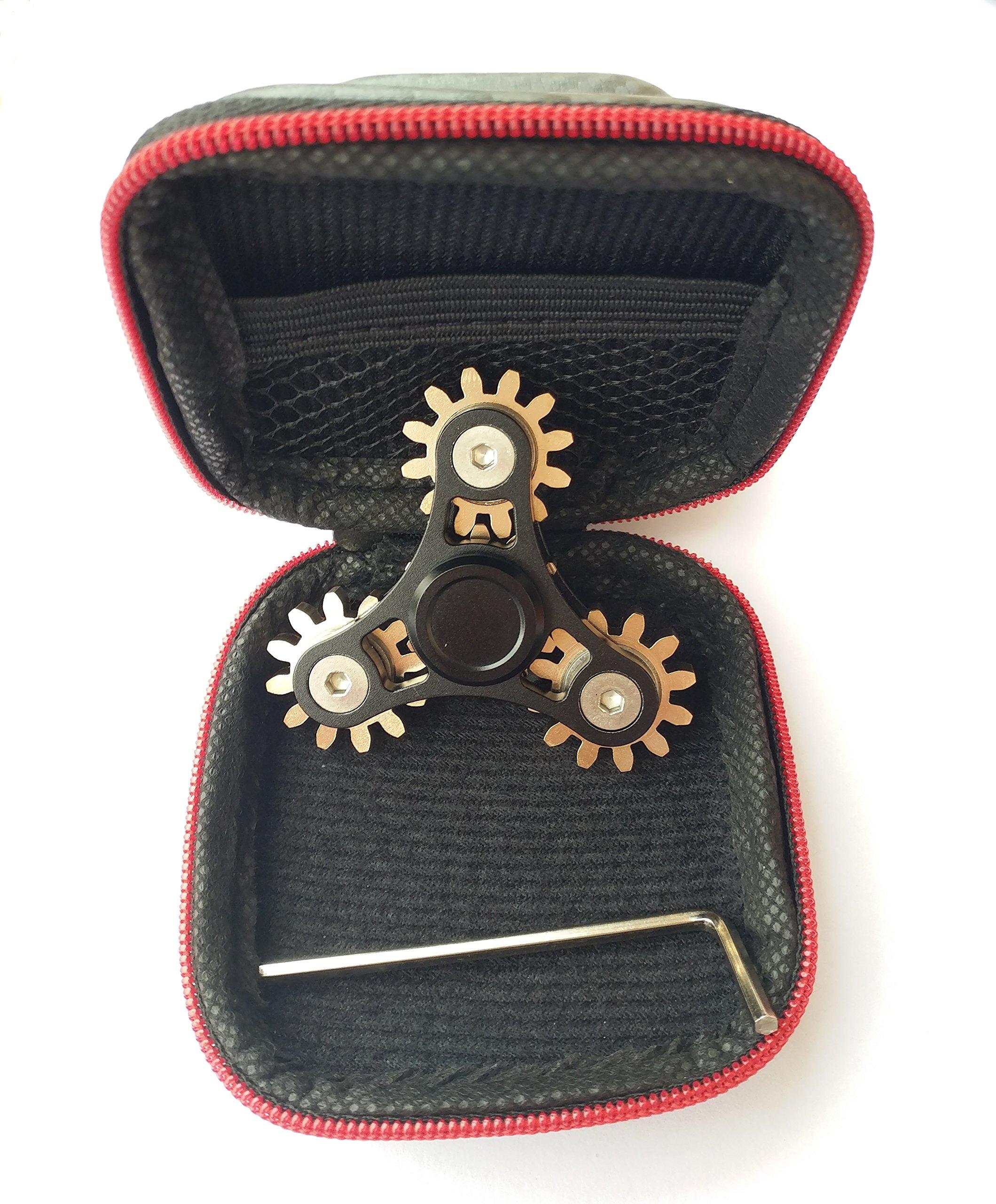DoDoMagxanadu 4 Gear Fidget Spinner Metal Brass Linkage Metal Gear Hand Spinner Fidget Toy Relievers Stress and Anxiety Anti Depression Toy by DoDoMagxanadu (Image #6)