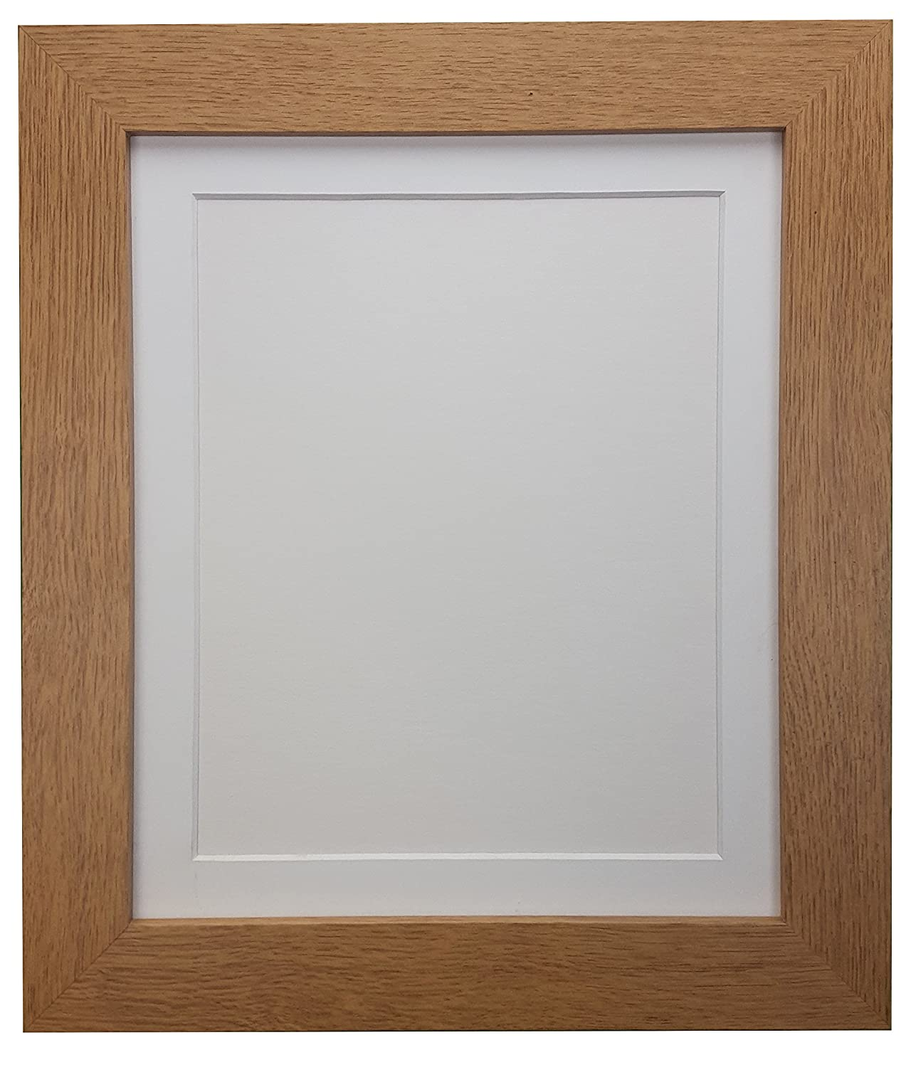 Large Oak Picture Frame with Mount Choice of Ivory Black or White Mount all size