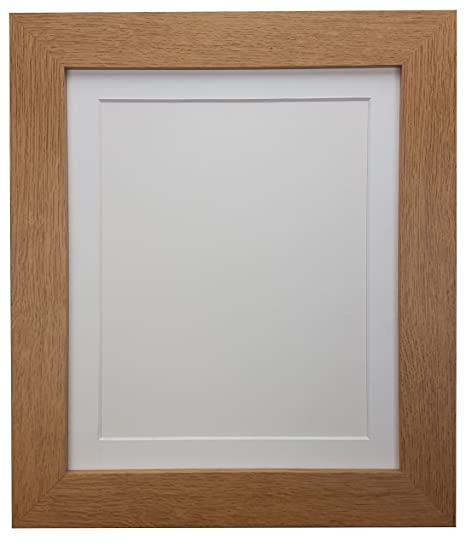 FRAMES BY POST Metro Oak Frame with White Mount 24 x 20 For Image ...