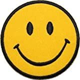 Smiley Face Embroidered Iron On / Sew On Patch Clothes Bag T Shirt Badge Transfer