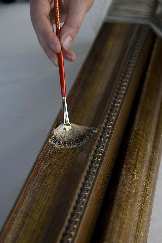 da Vinci Varnish /& Priming Series 433 Fan Blender Brush Size 3 Extra Short Hog Bristle with Maroon Handle