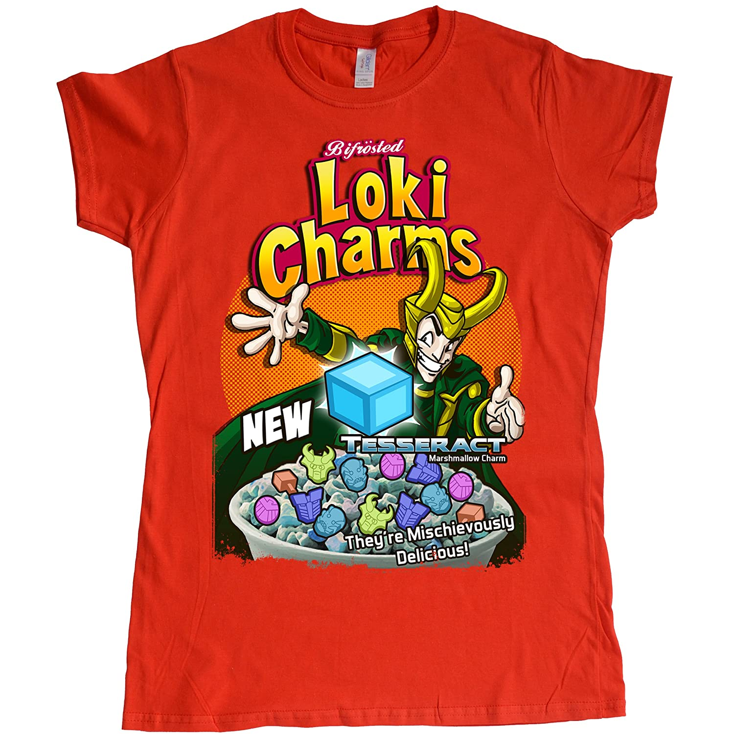 Stooble Womens's Bifrosted Loki Charms T-Shirt Stooble - 1ClickPrint