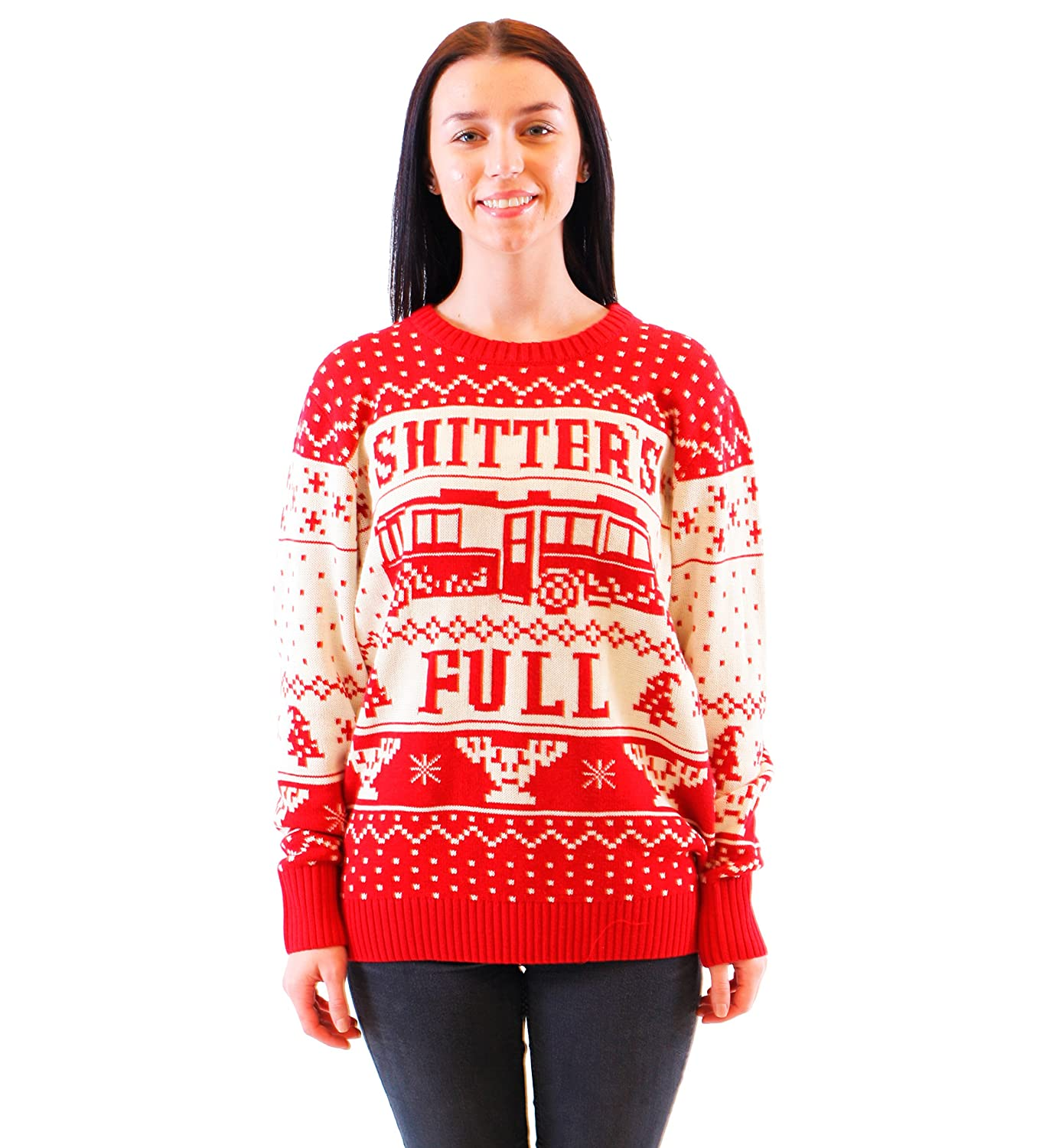 2766977cb0f Amazon.com  National Lampoon Vacation Shitter s Full Ugly Christmas Sweater   Clothing