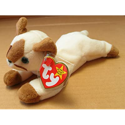 TY Beanie Babies Snip the Cat Stuffed Animal Plush Toy - 6 inches long: Toys & Games