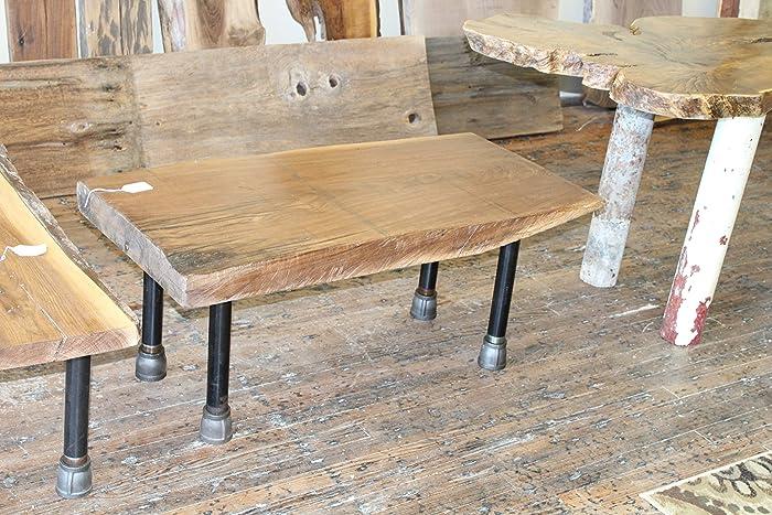 Amazing Amazon Com Black Walnut Coffee Table Pipe Legs Handmade Machost Co Dining Chair Design Ideas Machostcouk